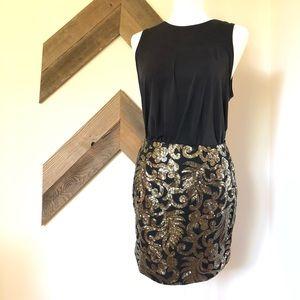 Holiday Gold & Black Skirt